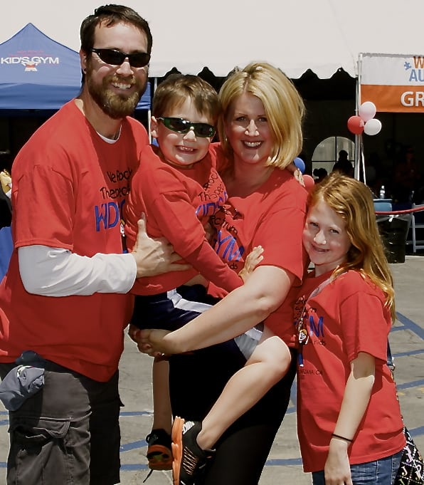 Dina Kimmel rocks the spectrum with husband Tim, son Gabriel and daughter Sophia. PHOTO COURTESY WE ROCK THE SPECTRUM
