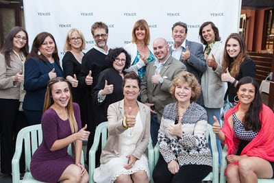 Pictured here are WAVE Award winners (top row, from left) Lizbeth Romero, Patrician Argumedo,  Wendie Orrison, Todd Lesner, Cheryl Silver, Danette Parks, Gabriel Alvarez, Stephen Cordova, Michael Jasorka, and Cara Cubicciotti (accepting for winner Nancy Chin) and (bottom row, from left) Nicole Loepz, along with VCCEC Chair Joelle Dumas and WAVE Award winners Bonnie Roche-Blair and Andreanne Breton.