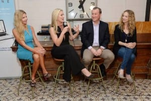 "Panelists Leana Greene, Elisabeth Röhm, Dr. Peter Antall, and Carley Knobloch at LiveHealth Online's ""Summer Survival Tips For Mom Soiree"" at the Palihouse."