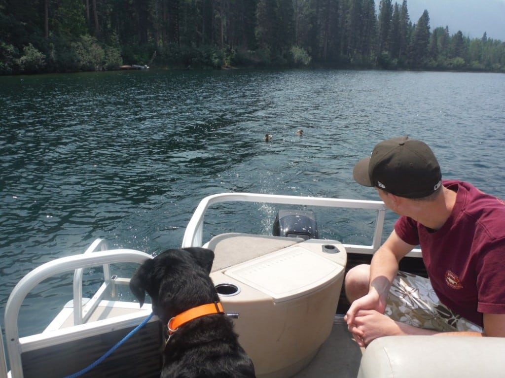 Pontoons offer an affordable and relaxing way to enjoy a day on the lake. PHOTO BY MIMI SLAWOFF