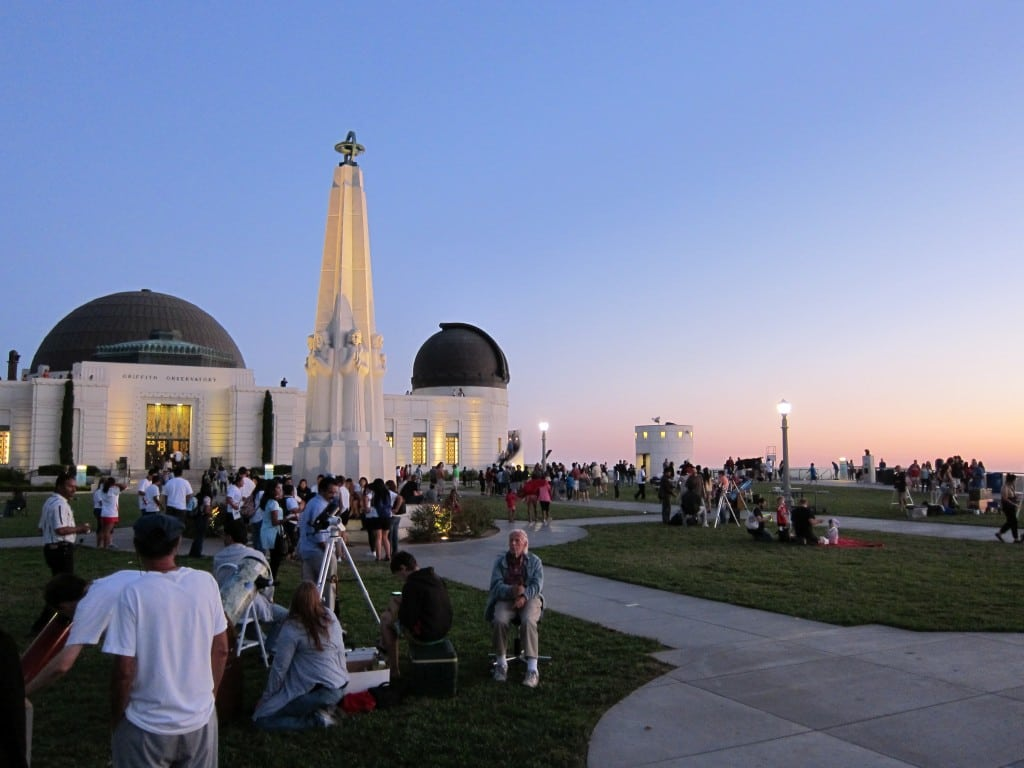 Bring your own telescope or work with amateur astronomers at Griffith Observatory's Star Parties. PHOTO COURTESY GRIFFITH OBSERVATORY