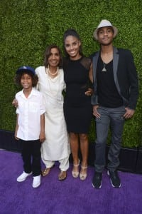 Roman Peete, Dolores Robinson, Ryan Elizabeth Peete and Rodney Jr. Peete attend 16th Annual DesignCare To Benefit The HollyRod Foundation. PHOTO BY VIVIEN KILLILEA/GETTY IMAGES FOR DESIGNCARE