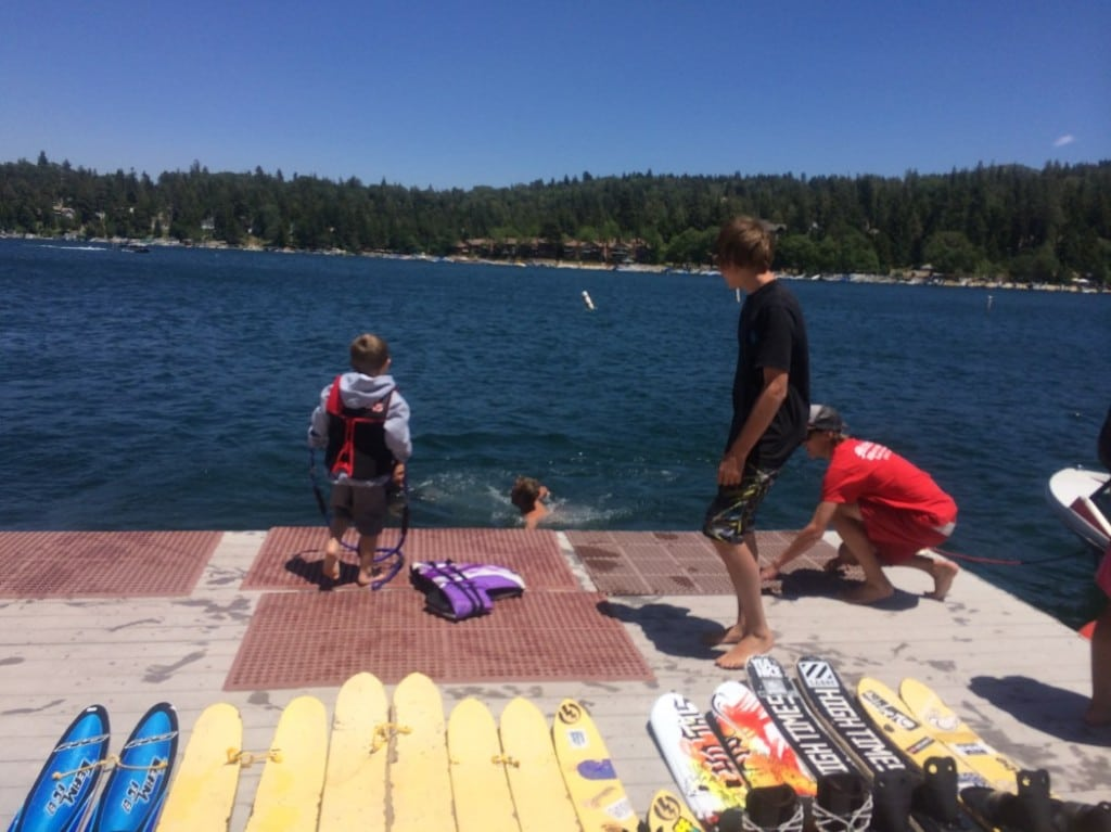 Water skiing lessons are a fun way to get water access at Lake Arrowhead.