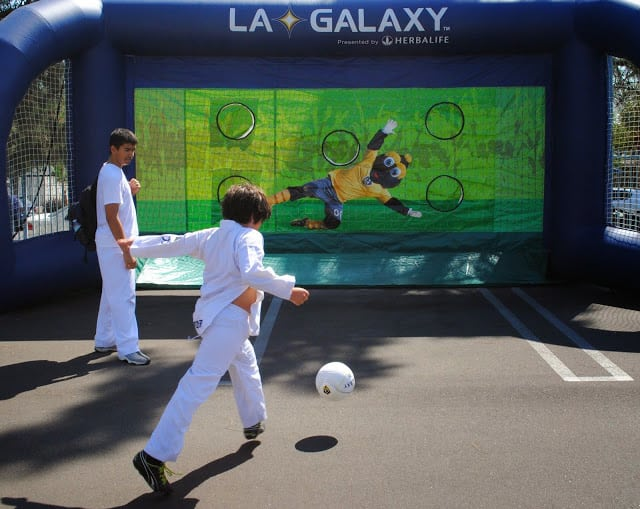 The L.A. Galaxy was on hand to provide fun soccer activities. PHOTO COURTESY EL NIDO