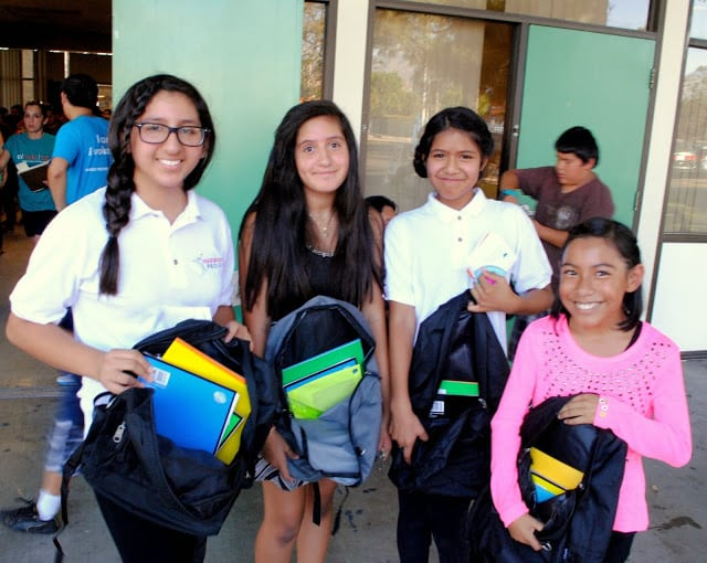 More than 800 families turned out to get the new school year off to a good start. PHOTO COURTESY EL NIDO
