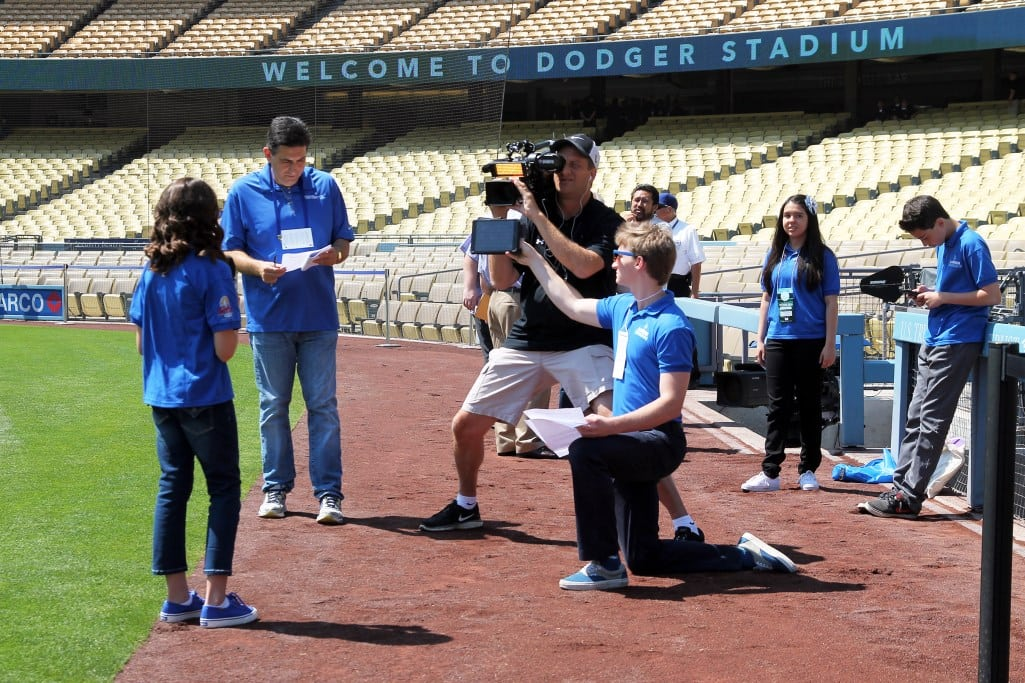 Jr. Dodger Broadcasters are treated like all other membes of the media. PHOTOS BY RHONA BLAKER