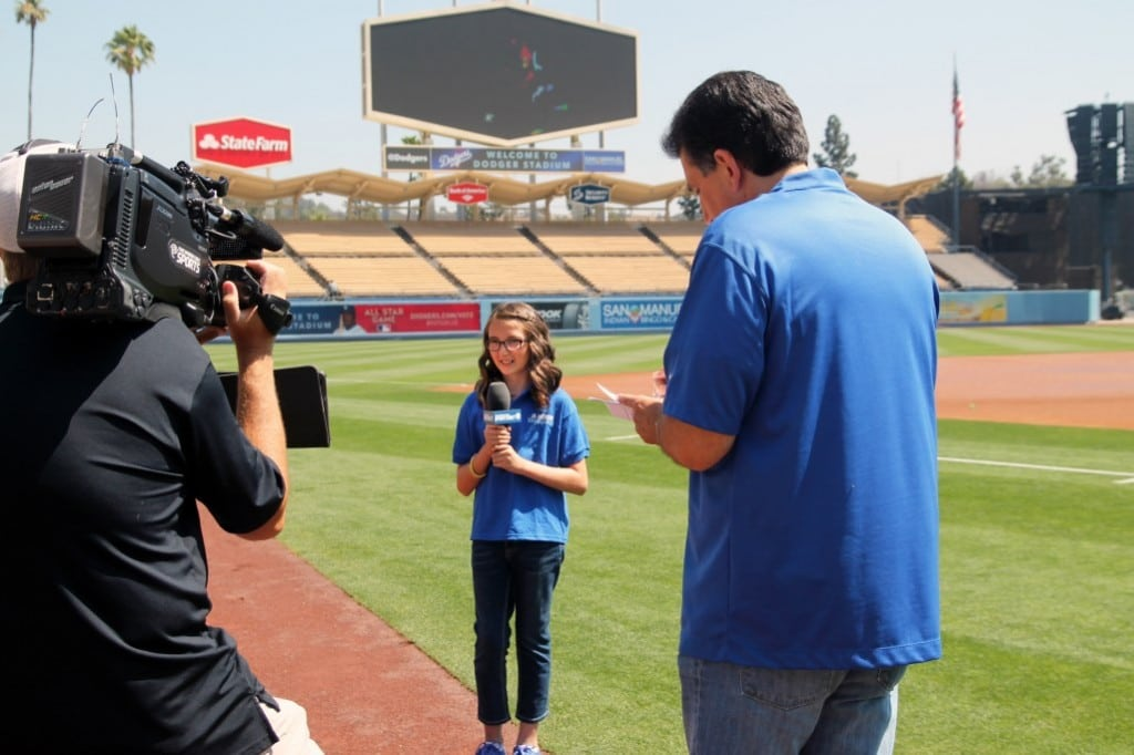 Jr. Dodger Sarah Pino reports from the field.