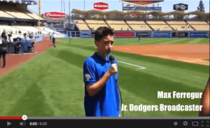 Jr Dodgers Broadcaster video image