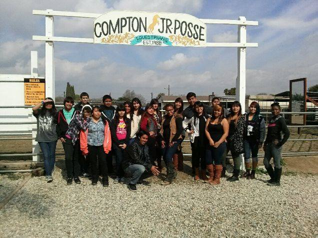 Members of the Compton Jr. Posse connect with horses – and each other – and also build academic and social skills. PHOTO COURTESY COMPTON JR. POSSE