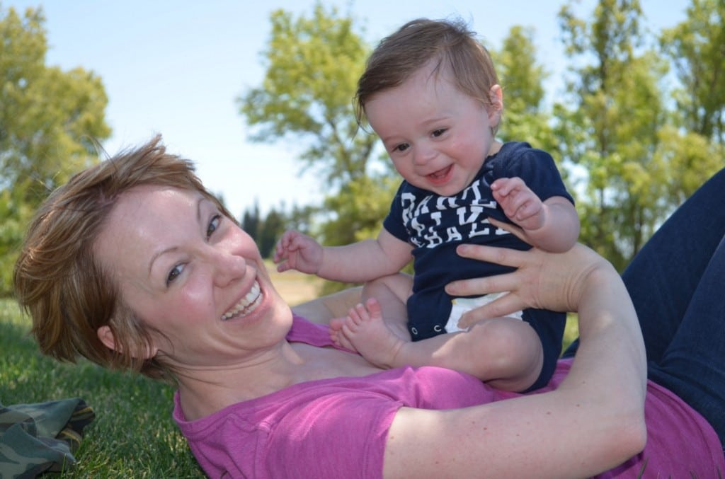 Alice Crisci, founder of Fertile Action, is pictured here celebrating her first Mother's Day with her son, who she had after surviving breast cancer.
