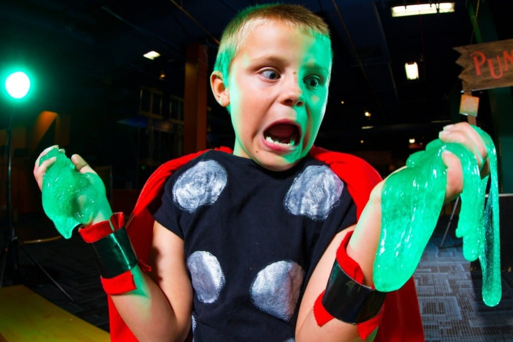 Enjoy a slimy time at Discovery Science Center's Spooky Science exhibit. PHOTO COURTESY DISCOVERY CUBE ORANGE COUNTY