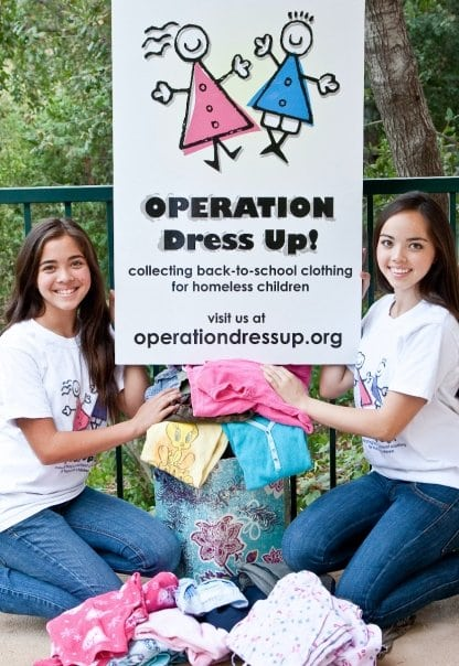 Sisters Phoebe and Megan Stoeckel started Operation Dress Up in 2009.