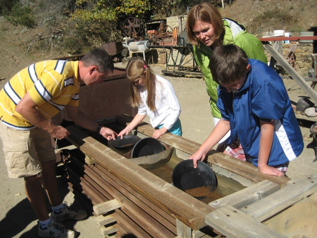 Try your hand at panning for gold at a local mine. PHOTO BY ROBERT ARENDS/SANDIEGO.ORG