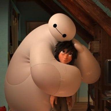 Hiro and Baymax form an unusual friendship in the new Disney film. ARTWORK COURTESY WALT DISNEY ANIMATION STUDIOS