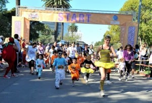 Make an early run at Halloween at the L.A. Cancer Challenge.  PHOTO BY ANGELA DAVES HALEY