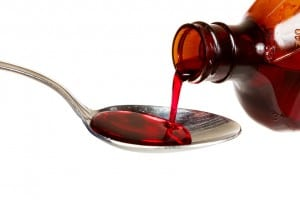 Don't use a kitchen spoon to measure medications. Use only the device that came with the medicine.