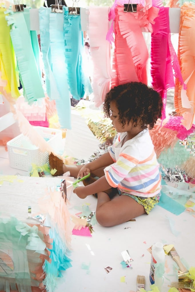 Families can craft and play with color, texture and a variety of materials at Handmade Holidays. PHOTO COURTESY CRAFTING COMMUNITY