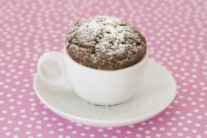 Chocolate Mug Cake. PHOTO AND RECIPE COURTESY BEVERLY WORTH PALOMBA