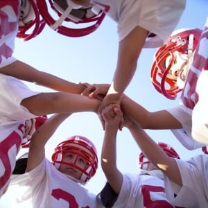 Football Team Huddle