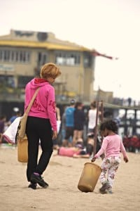 "Just about anyone can pick up trash, so kids will be a big help at Heal the Bay's ""Nothin' But Sand"" beach cleanups. PHOTO COURTESY HEAL THE BAY"