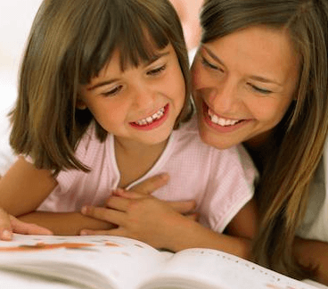 Mother daughter reading square