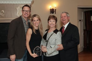 Actor Matt Lillard with his wife Heather Lillard (Deasy Penner & Partners) and awardees Nancy and Hugh Helm