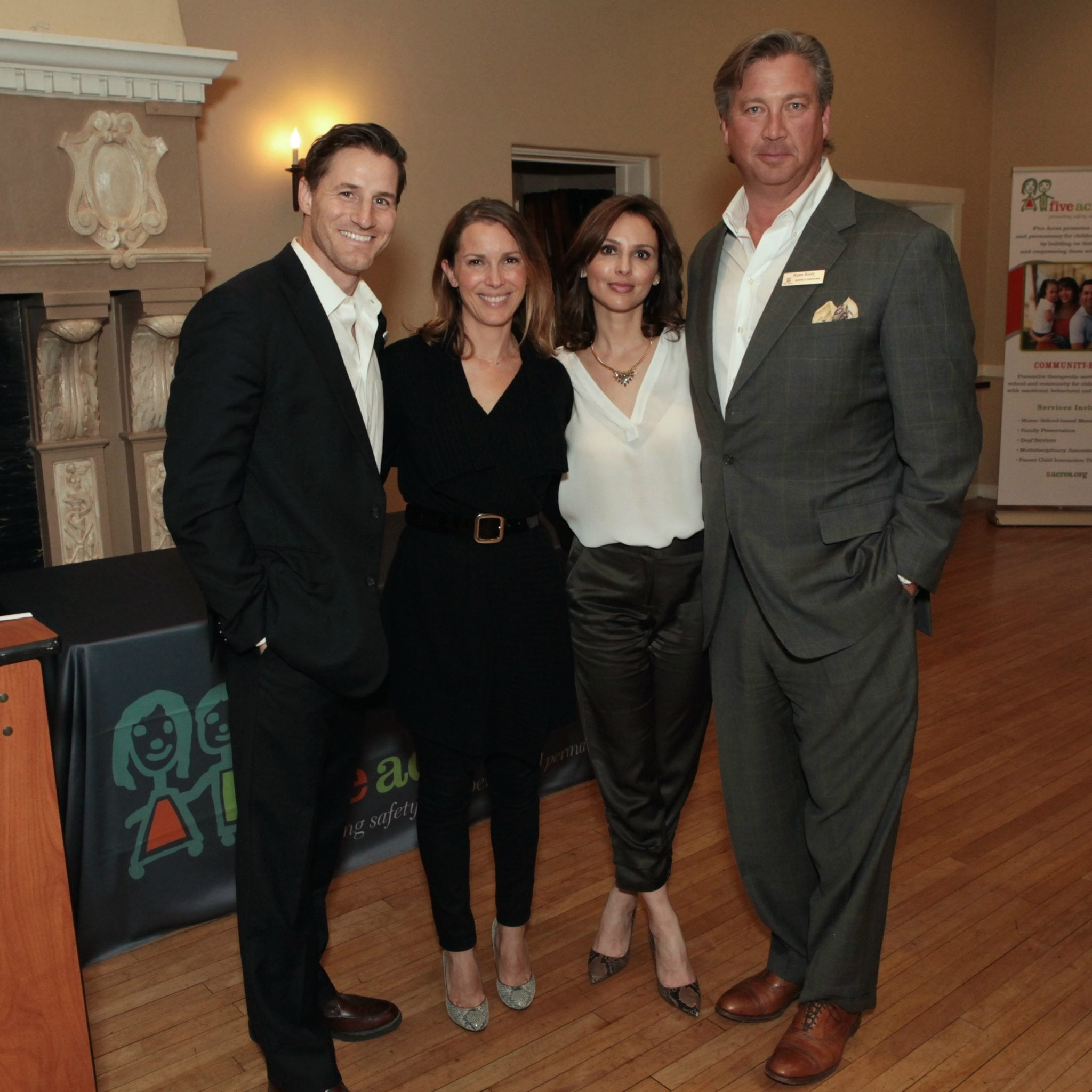 Actor Sam Jaeger with his wife Amber, Maria Johnson Velasquez (Squawkin') and Ryan Dietz (Wells Fargo Bank)