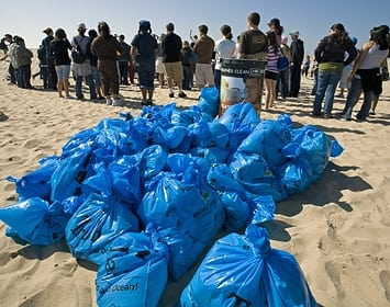 Nothin' But Sand Earth Day Beach Cleanup