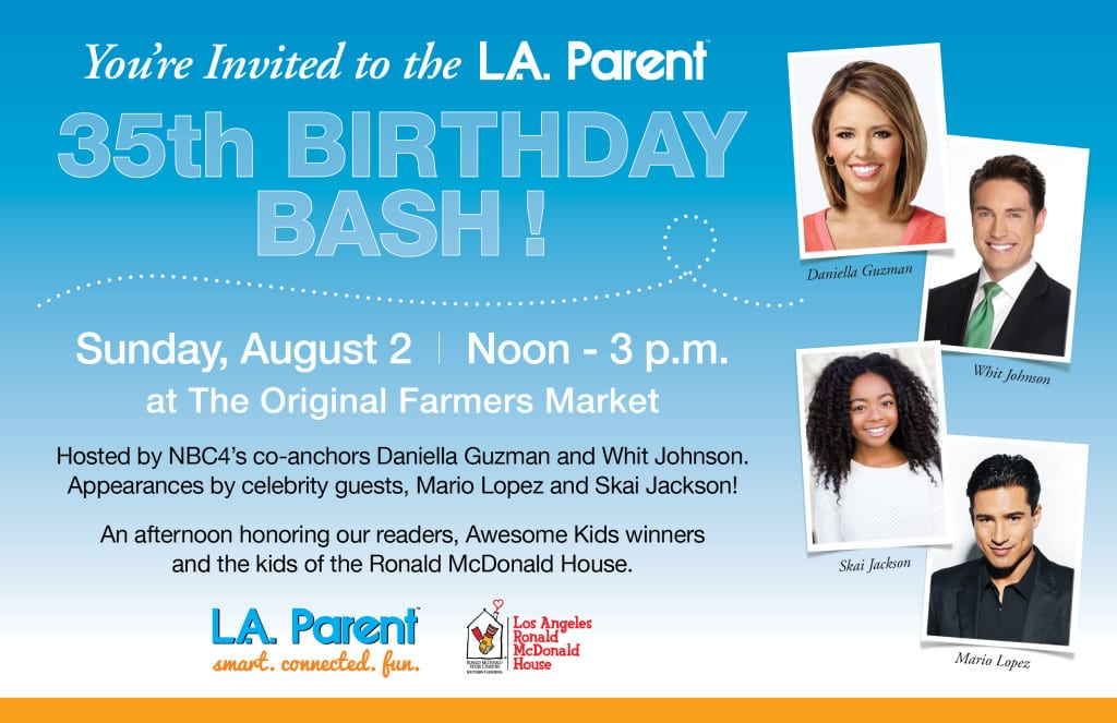 Social Share LAP Birthday Bash flyer