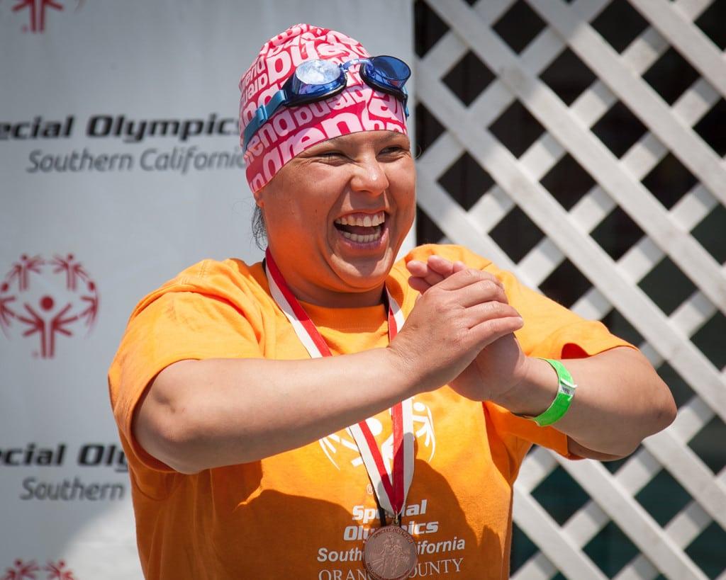 Special Needs Joyful swimmer