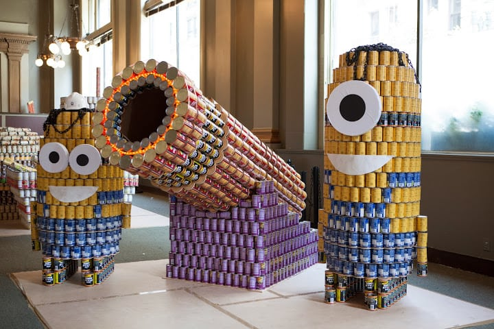 Los Angeles Attractions Canstruction 2015