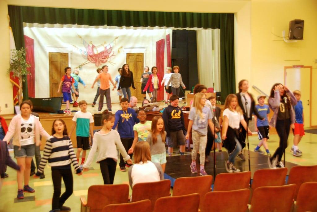 Los Angeles Schools Lantos rehearsal