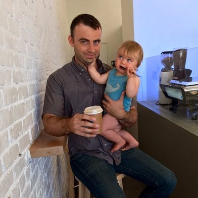 Dad Coffee Square