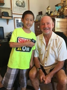 Kid Critic Theodore with Director