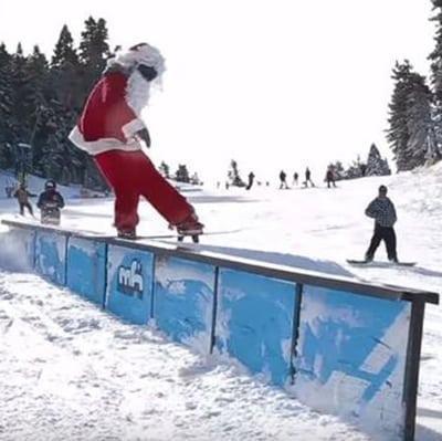 Skiing Santa Square
