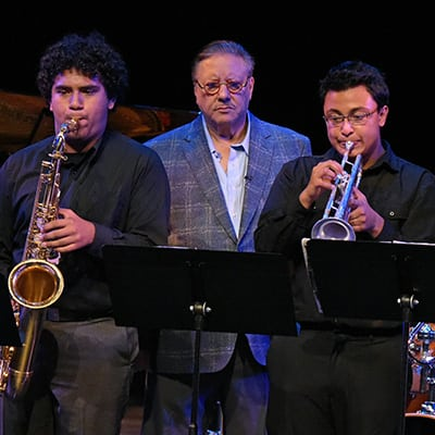 "BEVERLY HILLS, CA - Oct 27: The Wallis presents ""Arturo Sandoval's Master Class"" at The Wallis Annenberg Center for the Performing Arts on October 27th, 2015 in Beverly Hills, California."