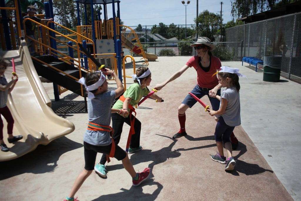 Fun ideas for kids - karate moviemaking