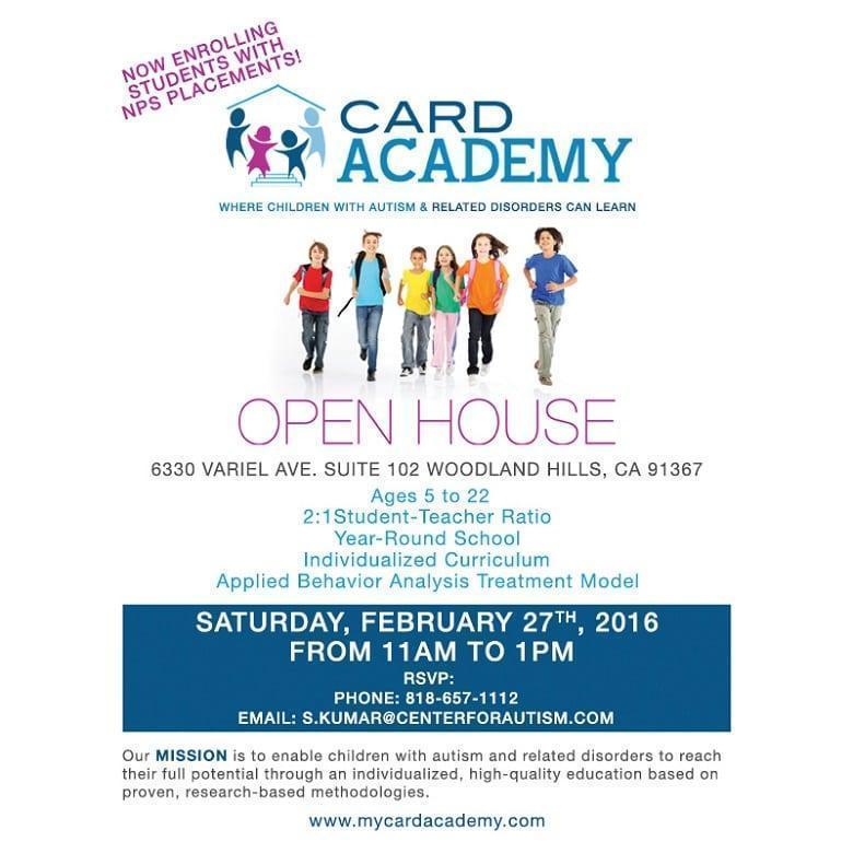 card academy open house l a parent