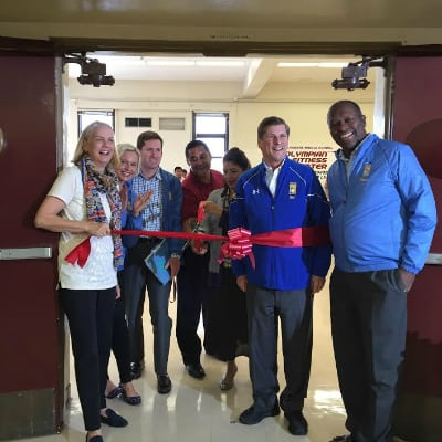 belvedere middle gets fitness center