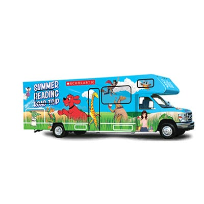 Scholastic Summer Reading Road Trip RV