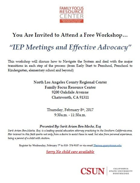 """IEP Meetings and Effective Advocacy"""
