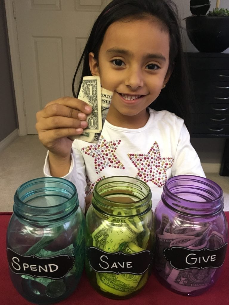 Kids And Money Introducing Spend Save And Give Jars