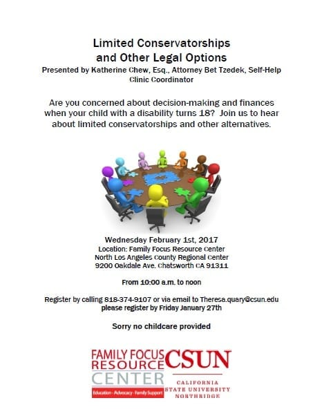 Limited Conservatorships For Those With Disabilities Workshop