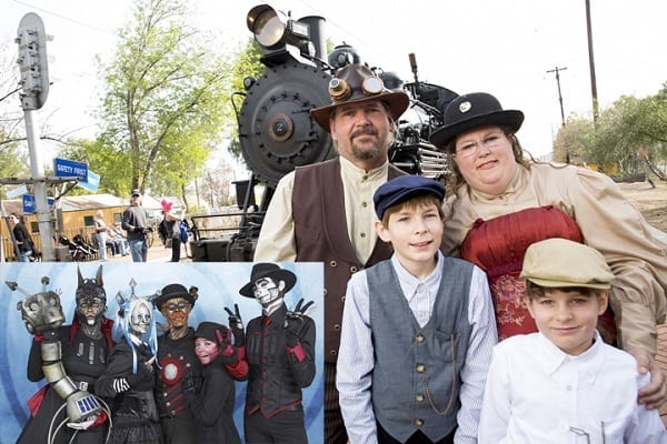 Iron Horse Family Steampunk Carnivale