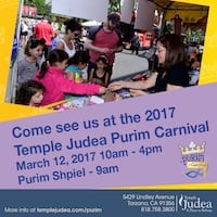 Purim Carnival at Temple Judea Tarzana