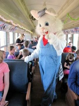 Easter Bunny At The Orange Empire Railway Museum