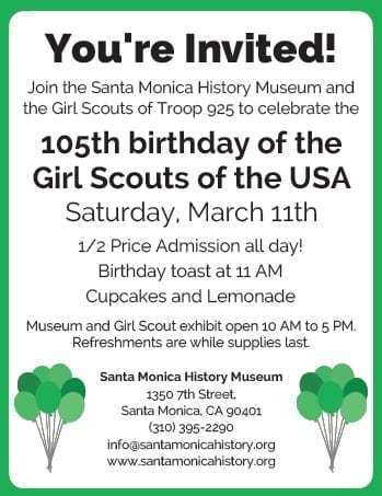 Girl Scout Birthday Celebration