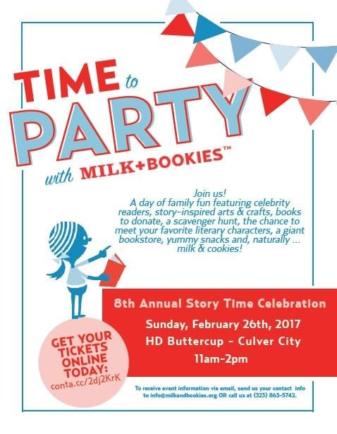 Milk + Bookies 8th Annual Story Time Celebration