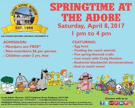 Springtime at the Adobe & Egg Hunt!
