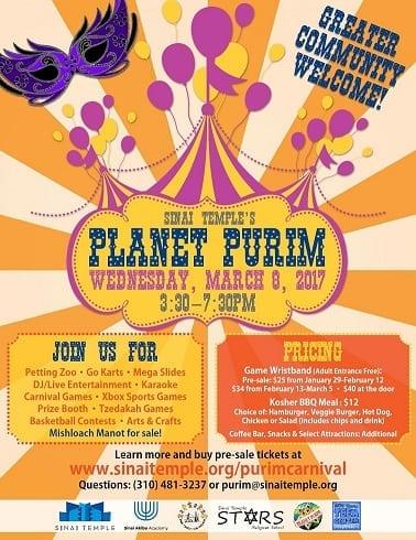 Sinai Temple's Planet Purim Carnival